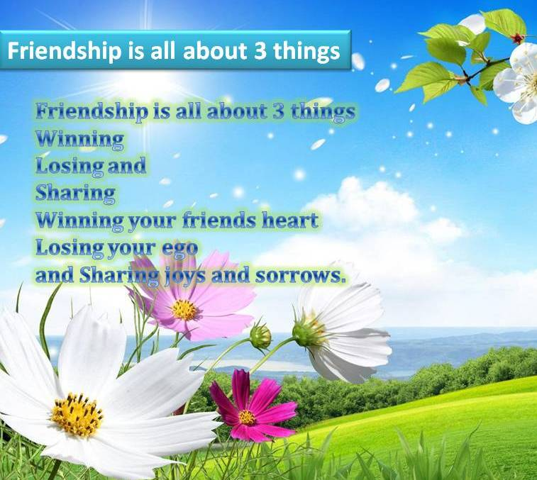 Friendship sms pic