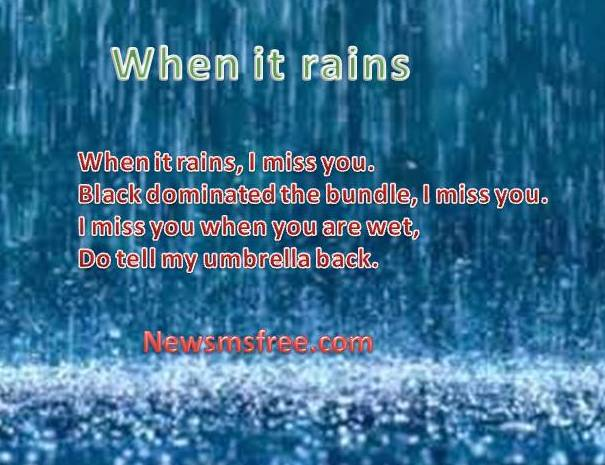 Rainfall sms pics