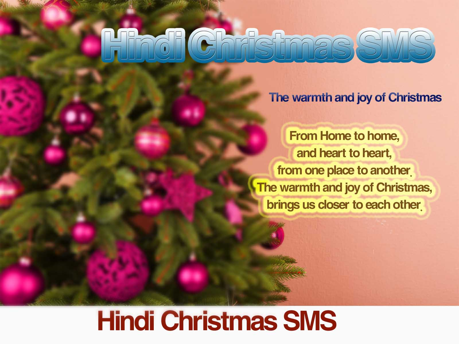 Latest Christmas SMS Free Text Messages, Quotes in Hindi