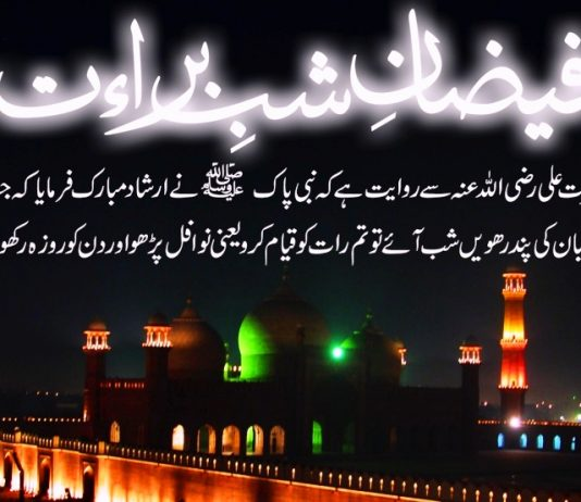 Shab e-Barat in Pakistan Pictures in Urdu with SMS